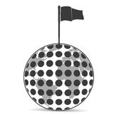 Golf Planet with flag Stock Images
