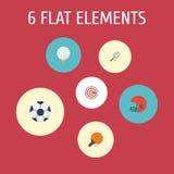 Golf plat d'icônes, flèche, Rocket And Other Vector Elements L'ensemble de symboles plats d'icônes d'activité inclut également la illustration de vecteur