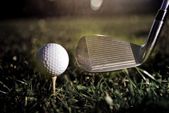 Golf play vintage Stock Image