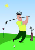 Golf player vector illustration