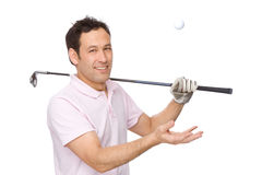 The golf player Stock Photography