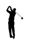 Golf player. Illustration of man playing golf Stock Photography