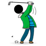 Golf player. The golf player icon of the player in action Royalty Free Stock Images