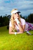 Golf player Royalty Free Stock Photos