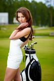 Golf Player. In fashion outdoor concept Stock Photos
