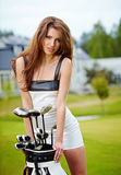 Golf Player. In fashion outdoor concept Stock Photography