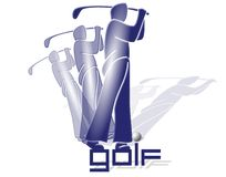 Golf Player#2. Golf player royalty free illustration