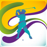 Golf player. Royalty Free Stock Image