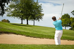 Golf player. An image of a young male golf player Stock Photography