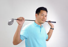 Golf Player stock image