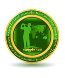 Golf player. The golf player on the green banner Stock Photography