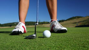 Golf player stock footage