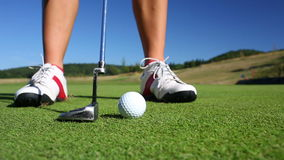 Golf player stock video footage