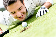 Golf player cheating Royalty Free Stock Photos