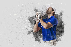 Golf Player coming out of a blast of smoke Royalty Free Stock Images