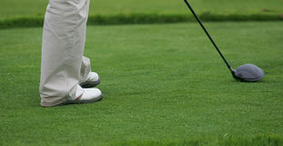 Golf player detail Stock Images