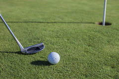 Golf. Player on the green Royalty Free Stock Image
