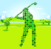 Golf Player green scores Royalty Free Stock Photo
