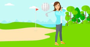 Golf player hitting the ball. Stock Photography