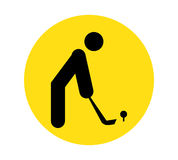 Golf Player Icon Royalty Free Stock Images