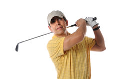 Golf Player Looking at the Ball Royalty Free Stock Image
