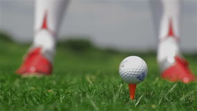 Golf player makes a tee shot stock video footage