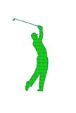 Golf Player Patch Royalty Free Stock Photos