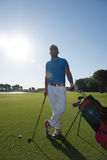 Golf player portrait Royalty Free Stock Photography