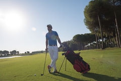 Golf player portrait Stock Photos