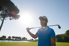 Golf player portrait Royalty Free Stock Photo