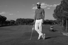 Golf player portrait Stock Image