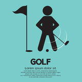 Golf Player. Sign Vector Illustration Royalty Free Stock Image