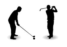 Golf player silhouette Stock Images