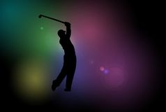Golf Player Silhouette Royalty Free Stock Image