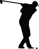 Golf player silhouette vector Stock Photos