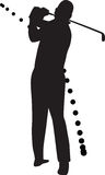 Golf player silhouette vector Stock Images