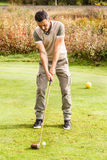 Golf player stance Royalty Free Stock Photography