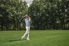 Golf player swing Royalty Free Stock Photography