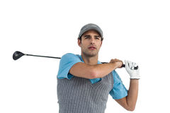 Golf player taking a shot Royalty Free Stock Photography