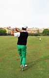 Golf player at the tee, Andalusia, Spain Stock Photography