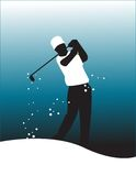 Golf player vector Royalty Free Stock Photography