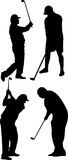 Golf player vector. Four golf players ,vector on white background Stock Images