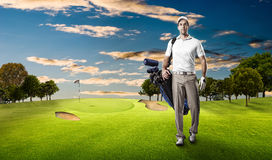 Golf Player Stock Photography