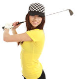 Golf Player Woman. stock photos