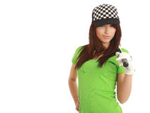 Golf Player Woman. Stock Photo