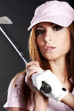 Golf Player Woman. Stock Image