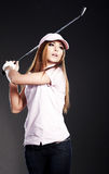 Golf Player Woman. Royalty Free Stock Photo