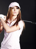 Golf Player Woman. Royalty Free Stock Photography