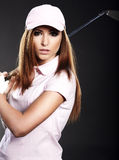 Golf Player Woman. stock photos