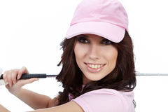 Golf Player Woman. Royalty Free Stock Image